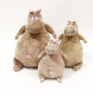 Movie character Gloria cute hippo doll