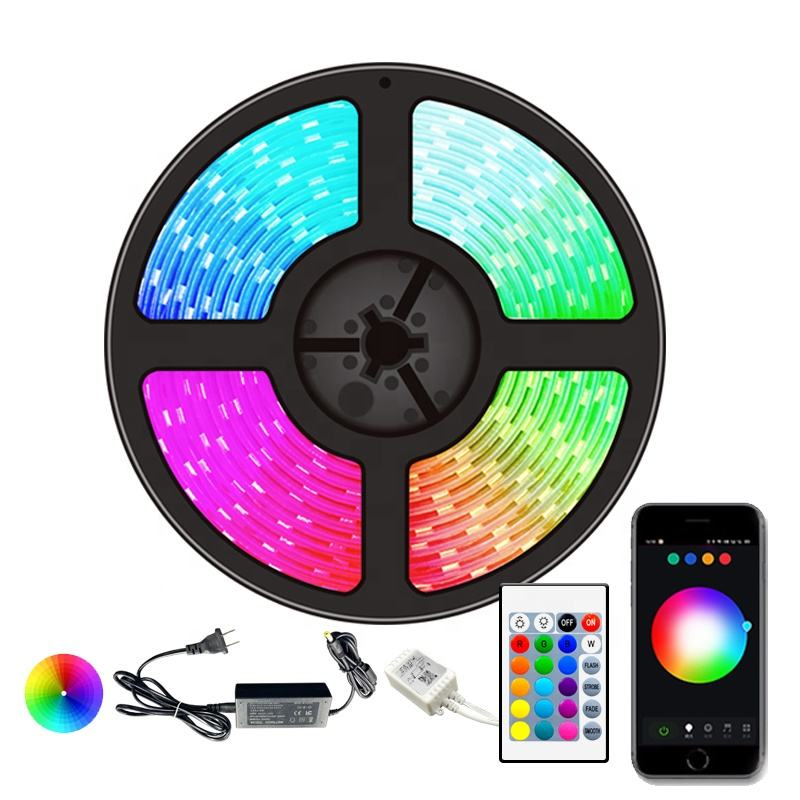 Individually Addressable SMD 5050 5M 10M RGB Waterproof 2835 Flexible Lights Set LED Strip 5M
