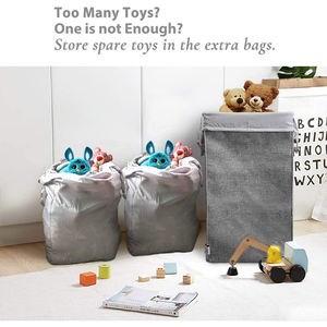 Customized Large Laundry Hamper Collapsible with 2 Removable Laundry Bags