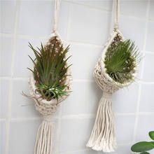 Plant Holder Boho Wall Hanging Planter Modern Indoor Home Decor for Succulent, Tillandsia, Crystal, Candle, Wall Decorations