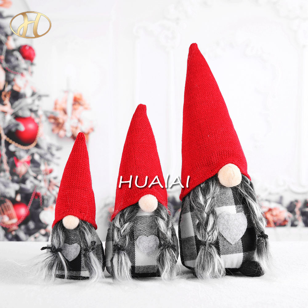 Factory Price Red Fabric HANDMADE Christmas Gnomes for Home Christmas Decoration
