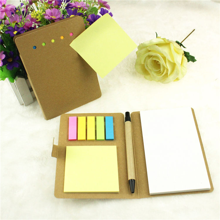 Kraft paper cover combination post-it stationery gift set