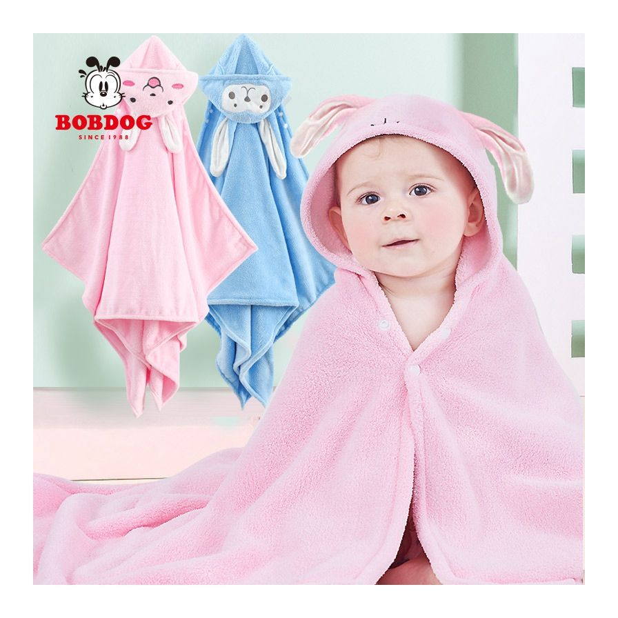 Soft Embroidery Bath Towel With Hood, Small Baby Care Towel Blanket/