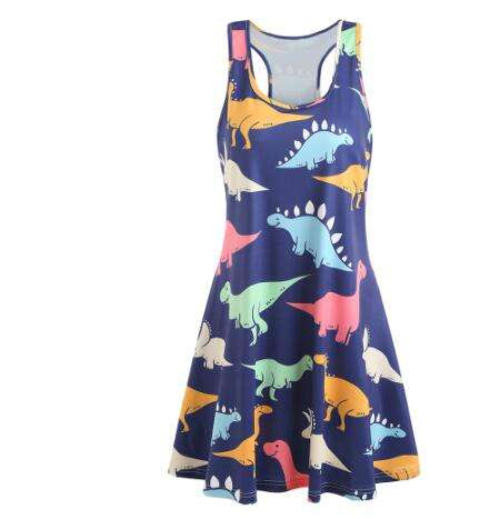 Dinosaur Milk Silk Tank Dress