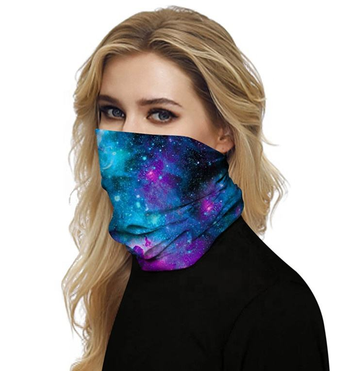 Wholesale Custom Neck Polyester Microfibre Skull face bandana seamless bandana buff headwear