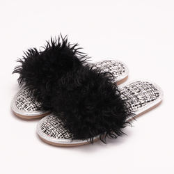 2020 New Arrival Indoor Anti-slip TPR Women's Furry Slippers For Winter