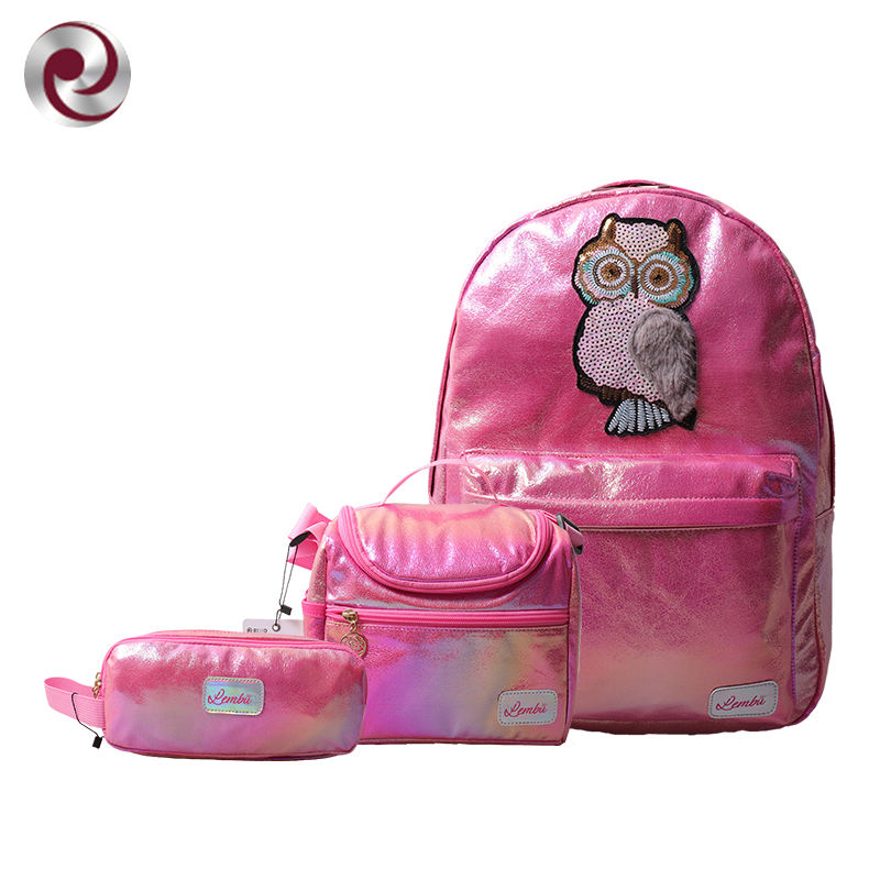 Wholesale ODM/OEM Custom Mochilas Leather Kids Schoolbag Set Girls Mini Bookbags