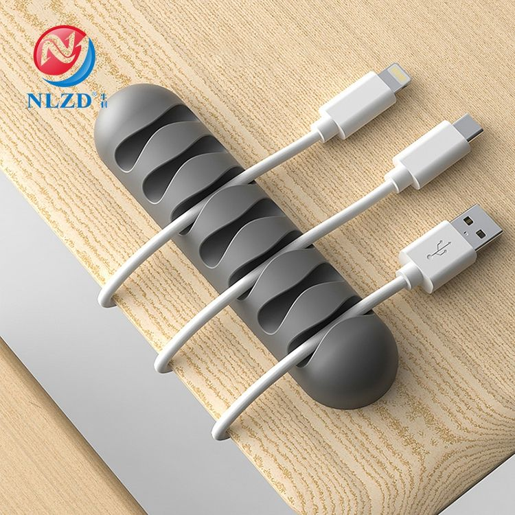 Cable Organizer Wire Winder Storage Holder Silicone Protector Management Cable Clips
