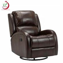 JKY Furniture Synthetic PU Leather Multi Function Home Theater Cinema Seat Rocker Swivel Recliner Manual Control Sofa Chair