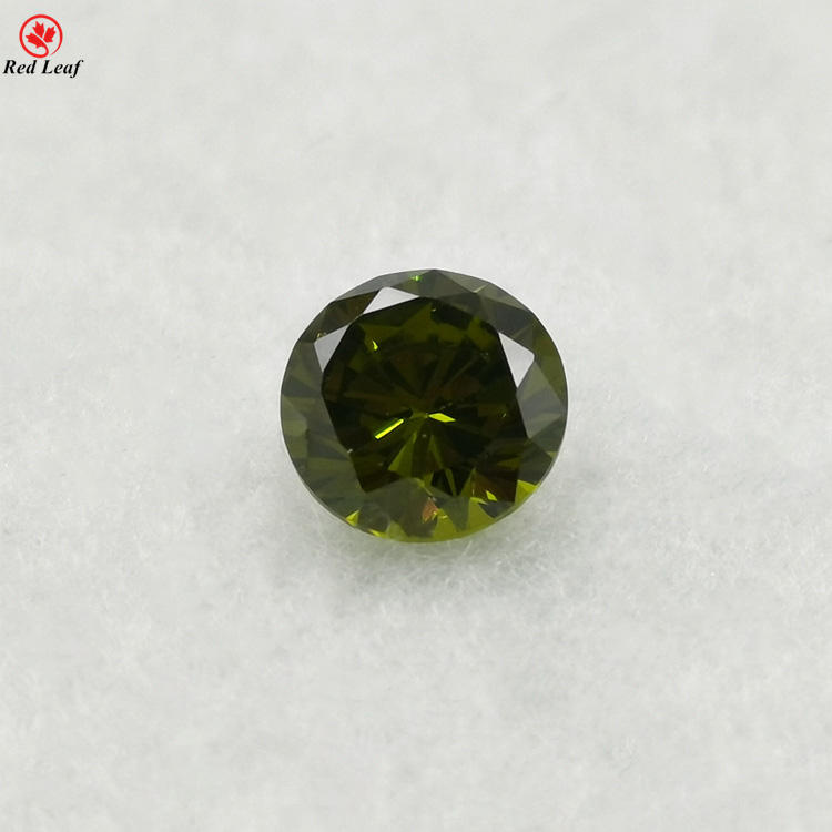wholesale AAA loose gemstone round colors 9.0mm - 15.0mm loose gemstone cubic zirconia cz stone