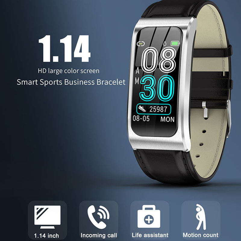 Color Screen Ak12 Smart Heart Rate Monitoring Bluetooth Sports Business Wristband 9 Colors For Choose