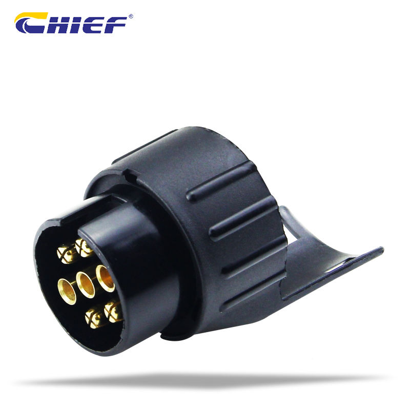 Auto Parts European Type 12V Trailer Connector Waterproof Plastic 7 Pin to 13 Pin Trailer Plug Converter Adapter Socket
