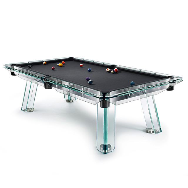 High quality 8ft modern style custom glass pool table
