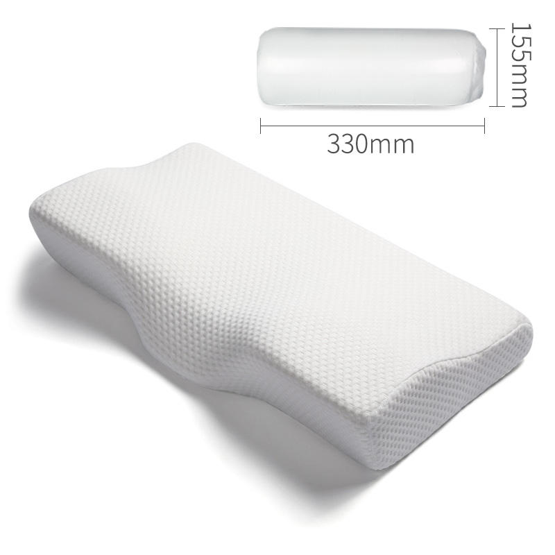 Custom Velvet Contour Orthopedic Butterfly Shaped Pillows Side Sleeper Anti Snore Cervical China Memory Foam Pillow