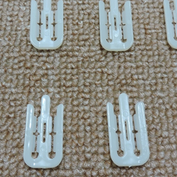 2 inches Clear Garment Clothes Plastic Clips for clothing packing