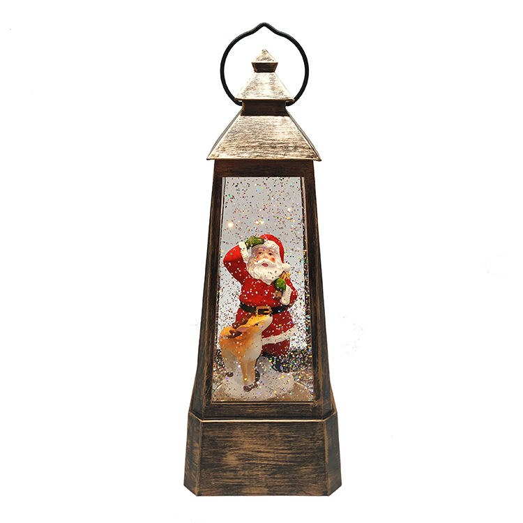 Interior Wind Lamp Lantern Water New Redesign Christmas Plastic Custom High Quality Santa Claus Snow Globe