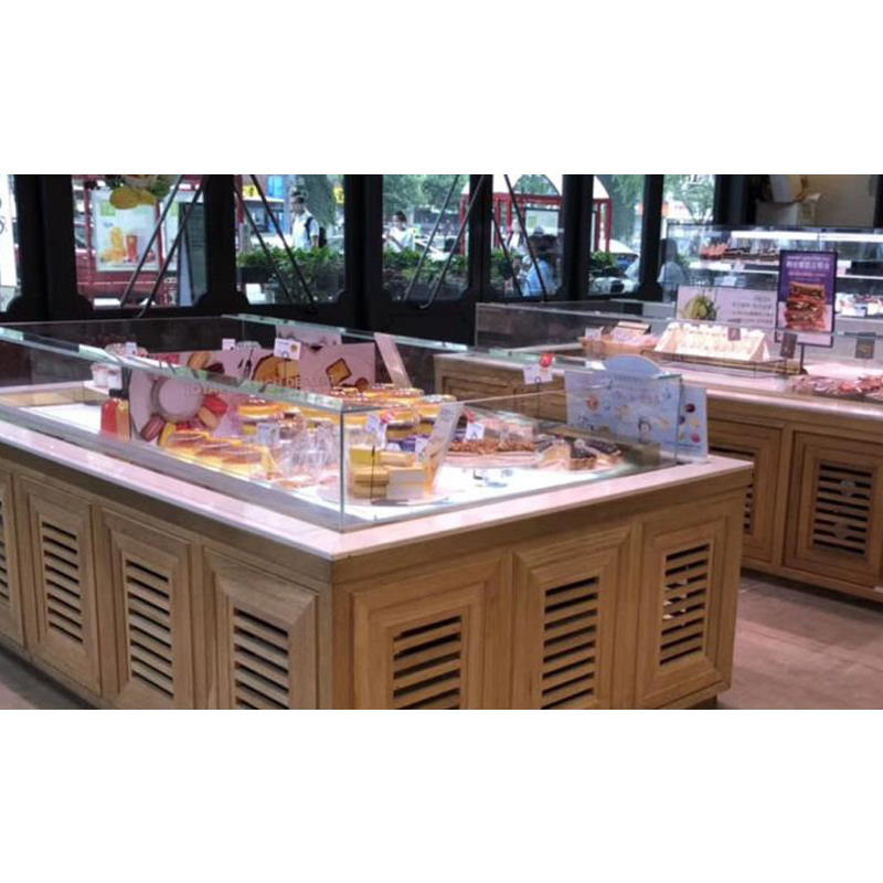 bread bakery cake display showcase wholesale