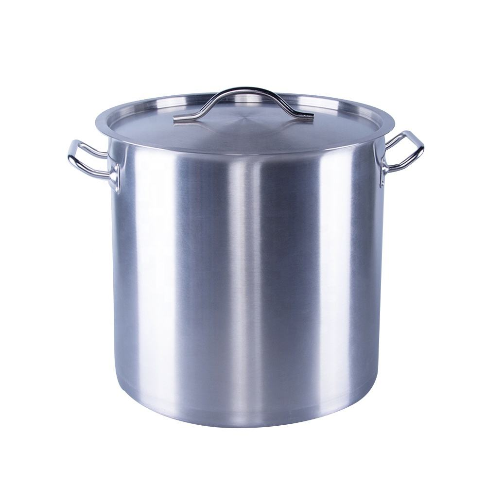 Factory supply large commercial kitchen new stainless steel stockpot set