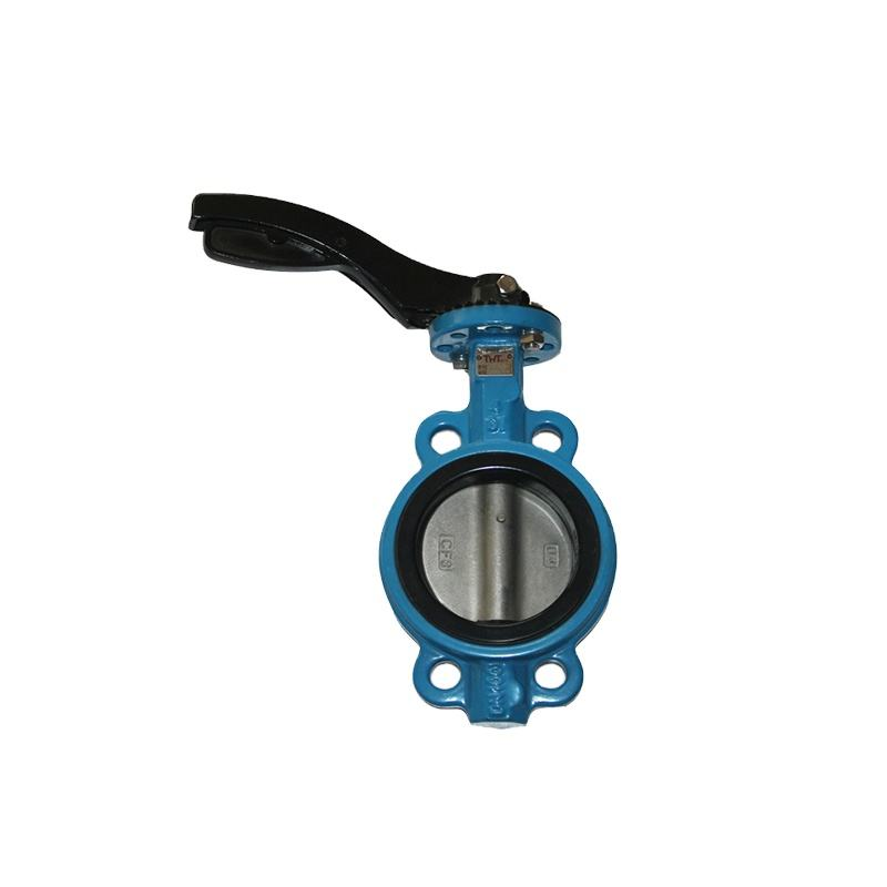 cast iron handle wafer types butterfly valve