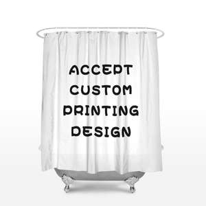Wholesale Custom Print Bathroom Sets With Shower Curtain And Rugs Personalized Shower Curtain Waterproof