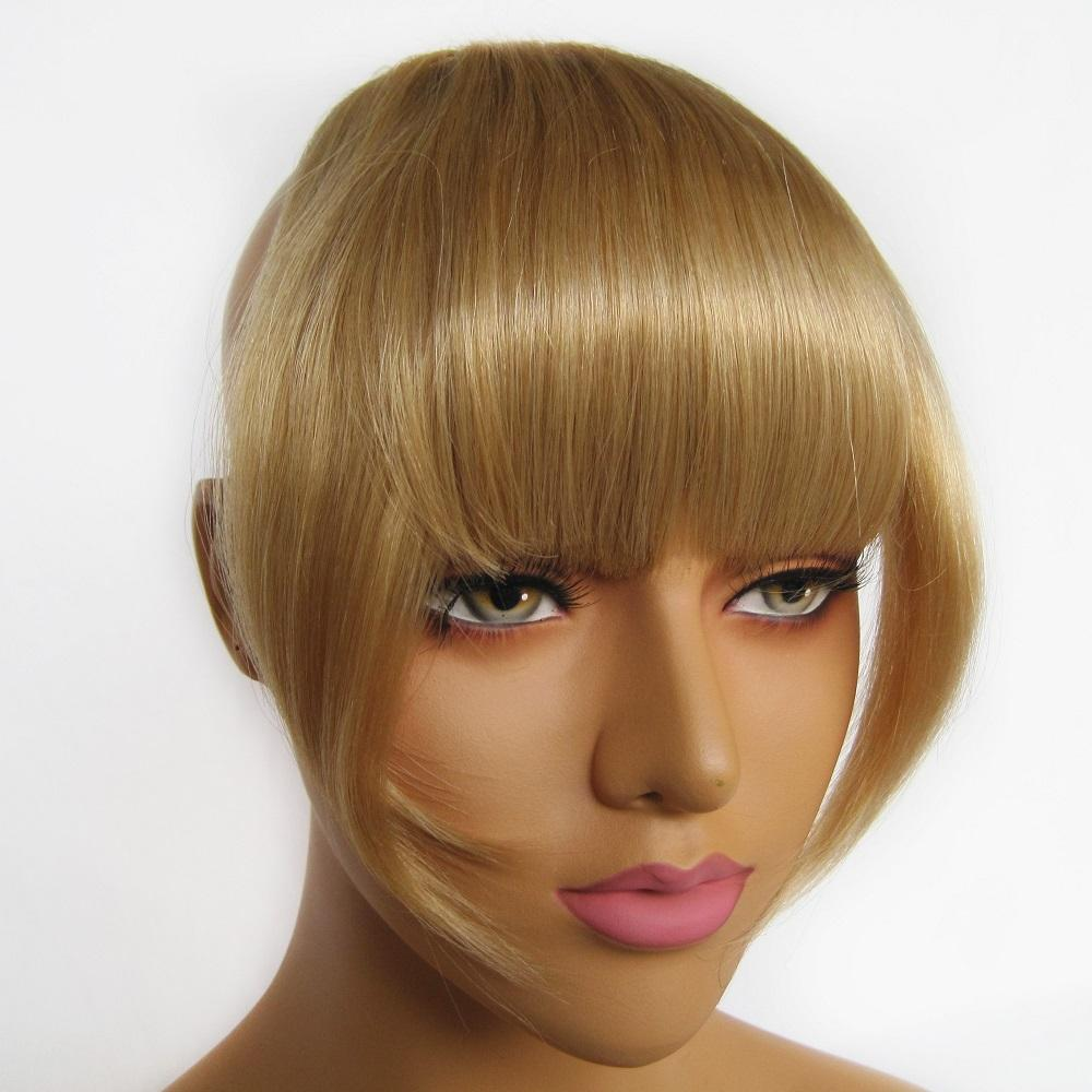 Wholesale factory remy human hair extension 100 human hair bangs clip on bangs