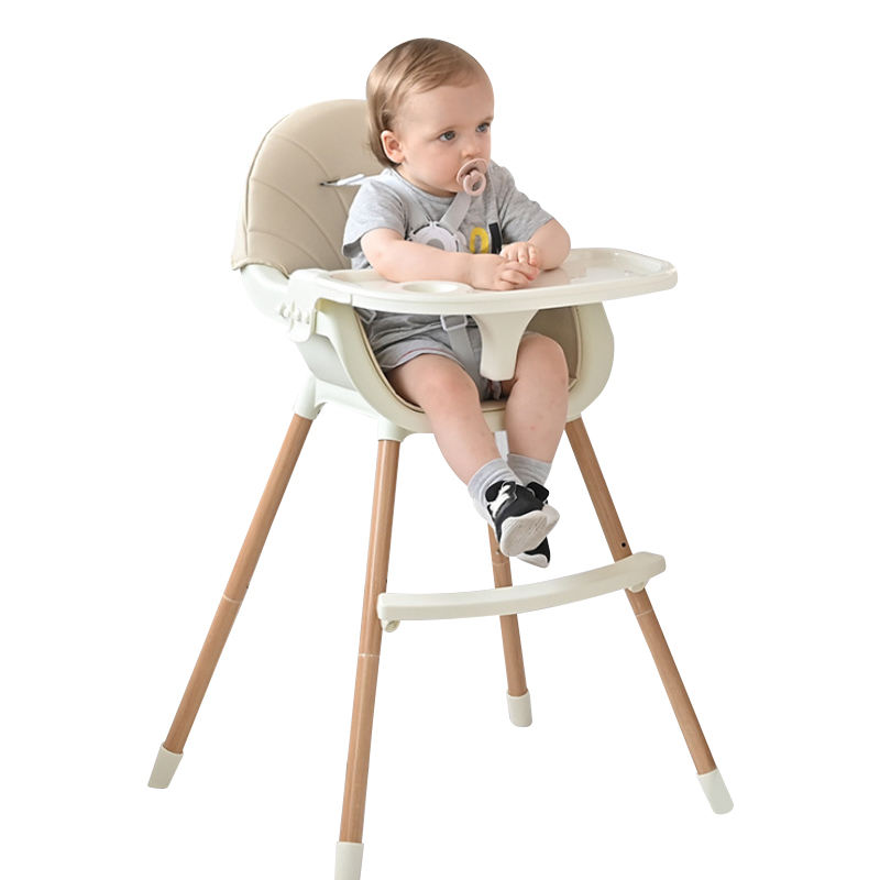 Wooden Home Height Adjustable Safety CE Baby Feeding High Chair