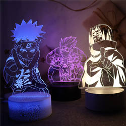 Home Decoration Naruto Anime Image 3D Visual Illusion Night