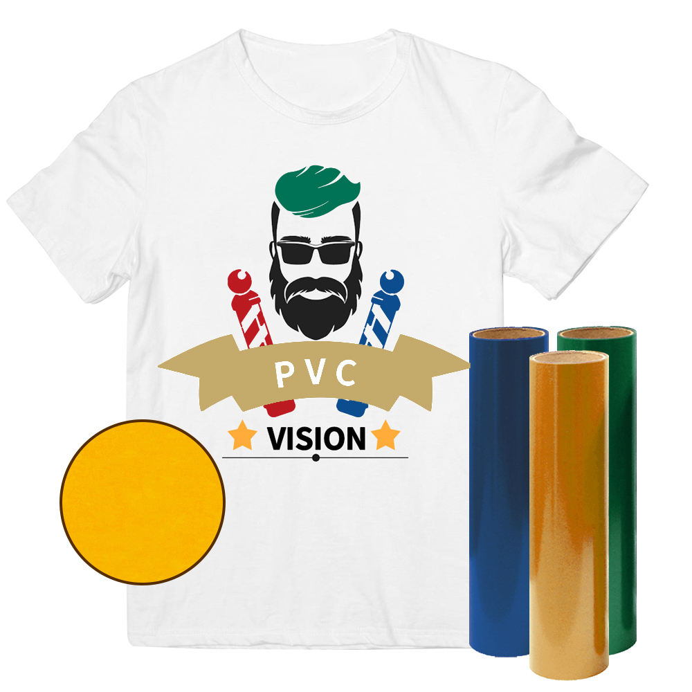 Custom Textile T Shirt PVC Thermal Press Vinyl Rolls HTV Film Heat Transfer Vinyl For Tshirt Clothing Logo
