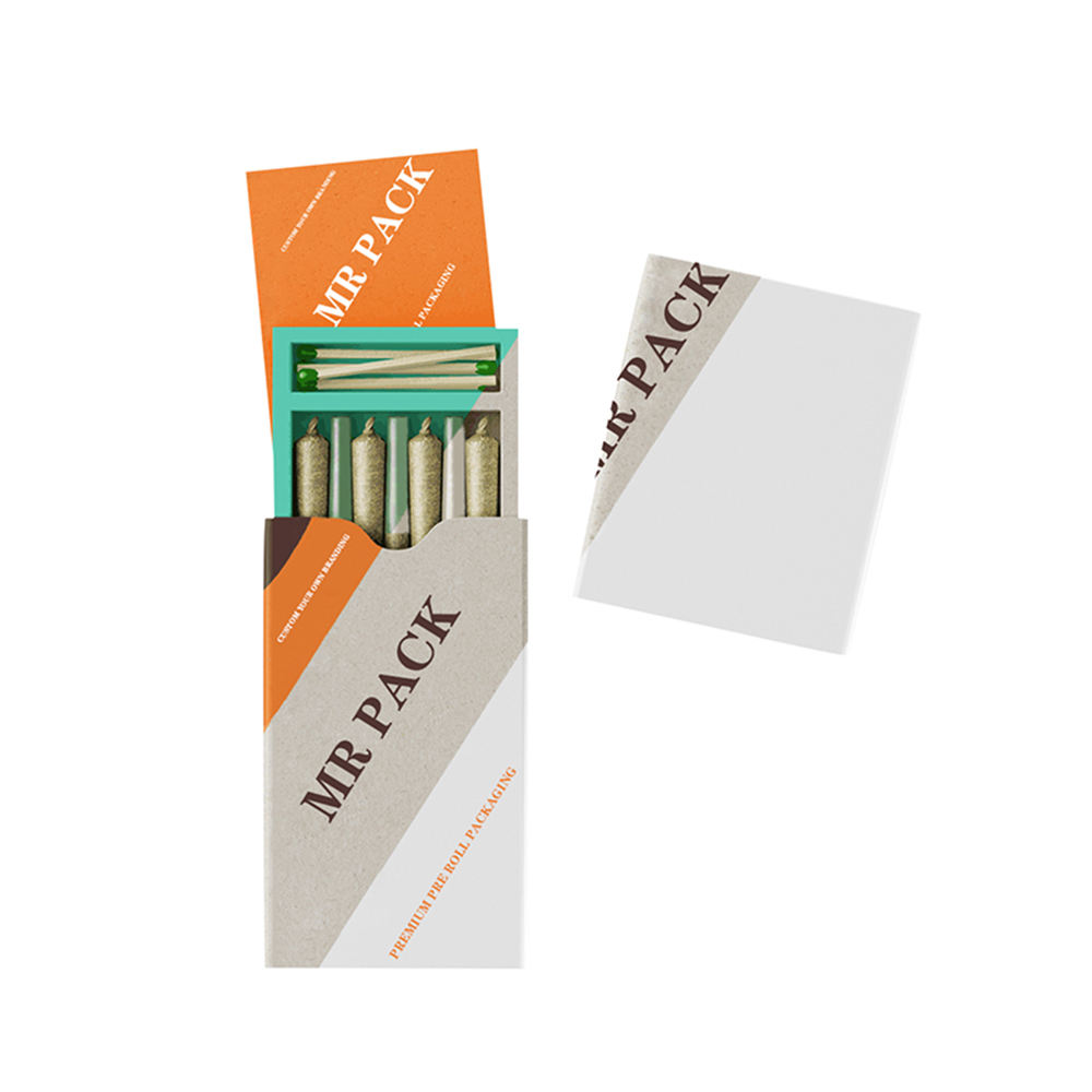 A Empty Cardboard Pre Roll Cigarette Box,King Size Pre Roll Tubes,Smell Proof Pre Roll Packaging