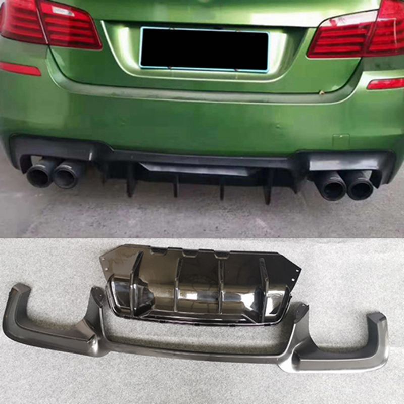 2012 - 2017 ABS Rear Bumper Diffuser Car Bumper Lip spoiler Protector Car Styling For BMW F10