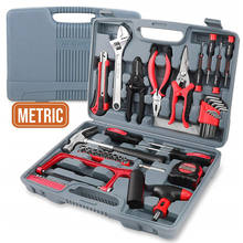 Hispec 53 Pieces Household  Automotive Electrical Hand Tool Tool Set Kit For Metal And Woodworking Solution