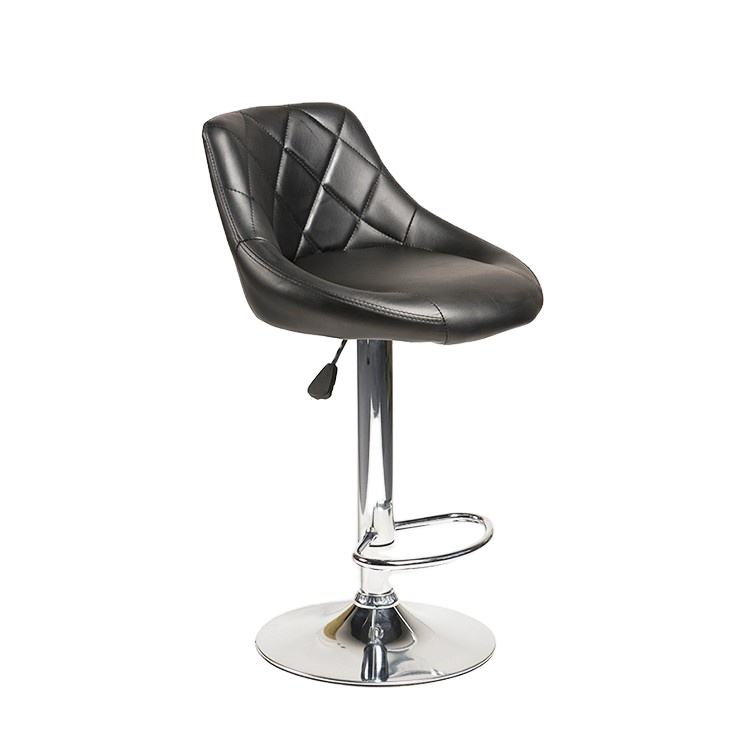 YIBO Hot Sale Soft PU Leather Leisure Bar Stools Swivel Stainless High Chair
