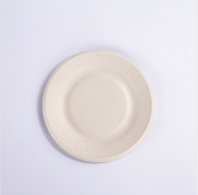 biodegradable sugarcane bagasse paper plates 7 inch paper plate with lace