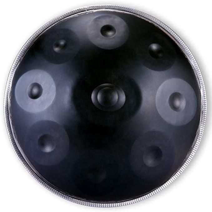 Hangdrumホット販売コンパクト打楽器プロフェッショナルgチューニング音楽教育ポータブル鋼舌ハンドドラム
