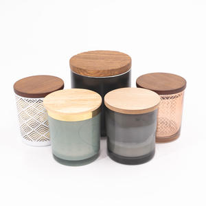 Nature style solid wooden lid for glass jar