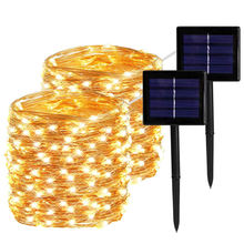 Waterproof solar powered Christmas decoration Led string light outdoor fairy light