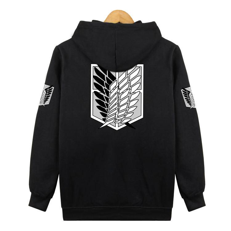 Uget Women/'/'s Attack on Titan Long Sleeve Hoodies Sweater Jacket Costume Coats M