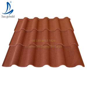 Metal Roofing Color Stone Coated Steel Roof Tiles For Mall Sports Venues Leisure Facilities Supermarket Warehouse Workshop Park