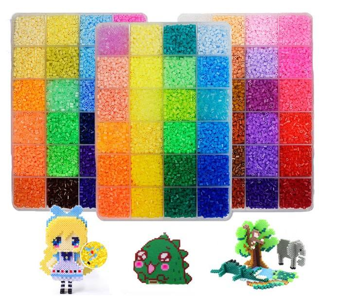 Perler Beads Toy Kit 5mm/2.6mm Hama beads 3D Puzzle DIY Toy Kids Creative Handmade Craft Toy Gift
