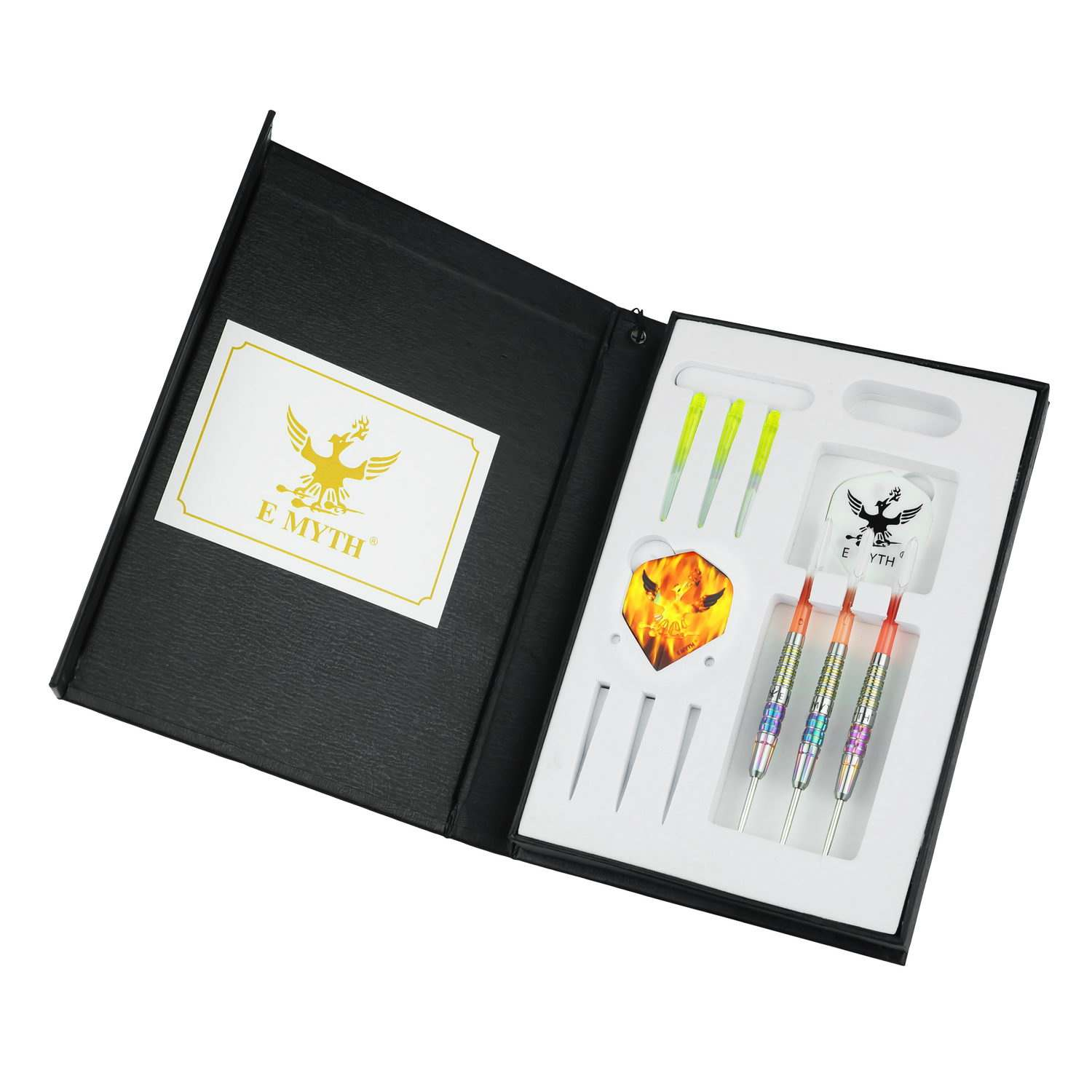 High quality tungsten steel dart with flight shaft and dart box