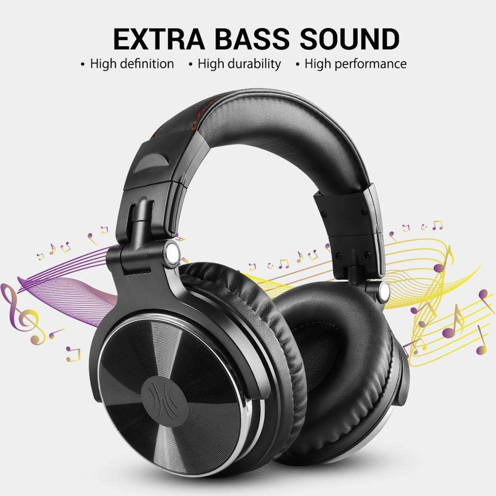 Oneodio Studio Headphones Wired With Mic Super Bass 50mm Driver HIFI Wired DJ Headphone For Recording Monitoring H