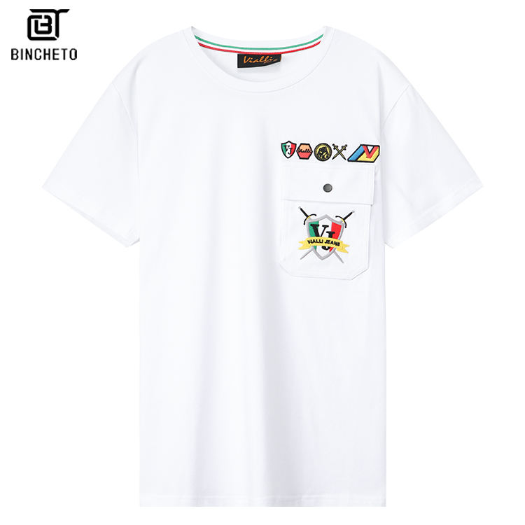 2020 new arrival high quality embroidery cotton men tshirts latest shirt designs
