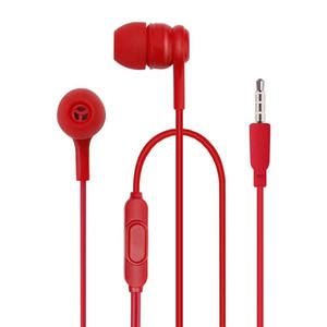 Colorful mobile earphone headphone with microphone cheap wired mobile earphone