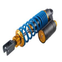 Double rear adjustable shock absorber with airbag for motorcycle