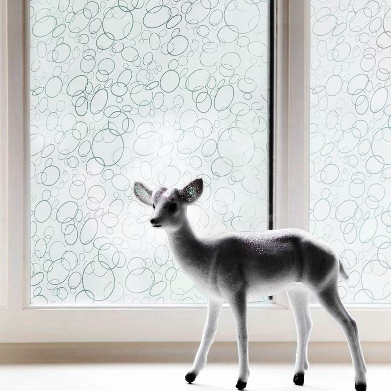Art glass window film Branco círculo padrão decorativo filme