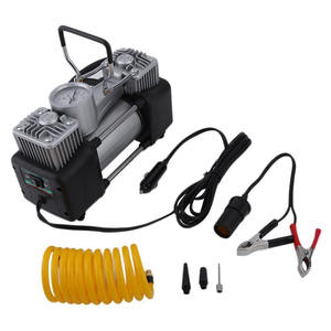 New 12v Double-cylinder Car Inflatable Pump Tire Inflators Tool Air Compressor Repair