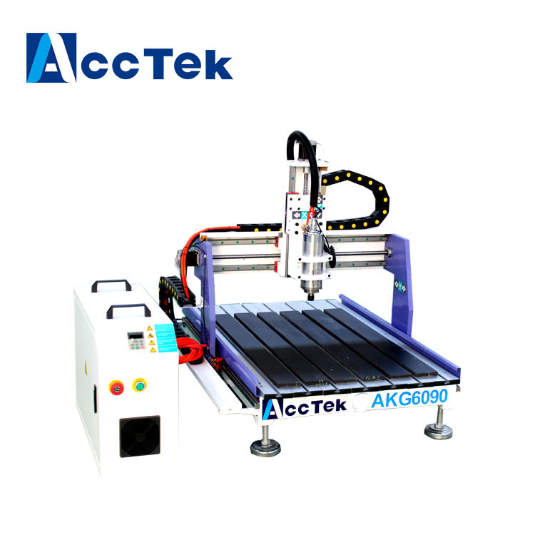 G code easy to operate cnc router for acrylic advertising making machine with water cooler AKG6090