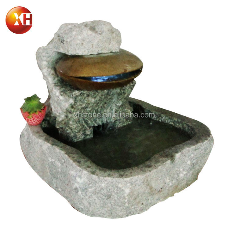 Mussel Shape Natural Stone Led Water Fountain Water Fall And Stone Water Ornaments Total High 65cm For Garden Landscaping Design