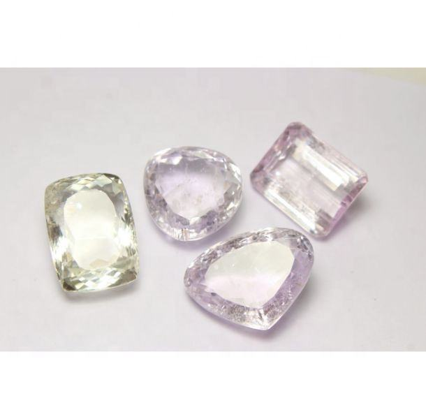 Natural Kunzite Cut Stone Gemstone Mix Shape Good Quality Wholesaler Price