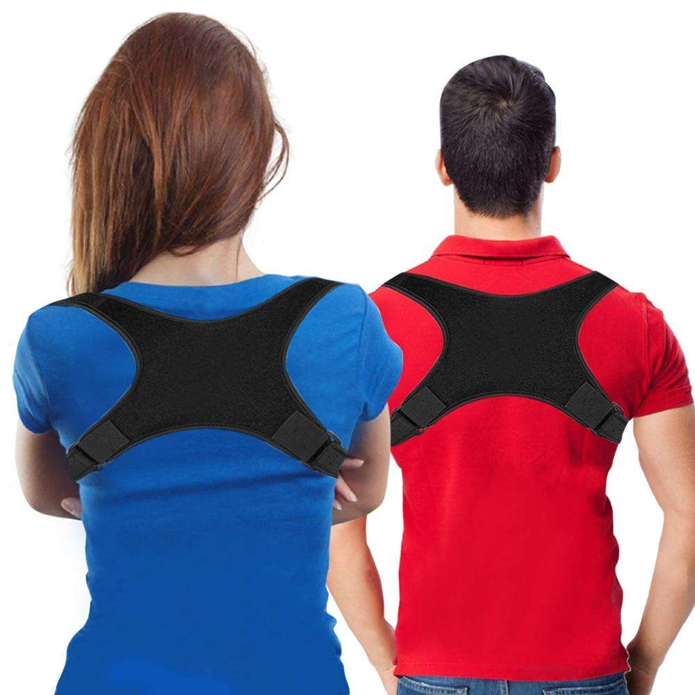 Office People Use free size back pain relief clavicle support belt for posture corrector